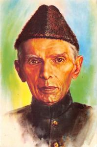 Pakistan Old Vintage Antique Post Card Mohammad Ali Jinnah Founder of Pakista...