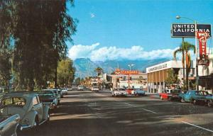 Ontario California Business District Standard Oil Gas Station Postcard JD933937