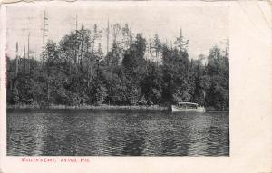 Muller's Lake, Antigo, Wisconsin, Early Postcard, Used in 1908