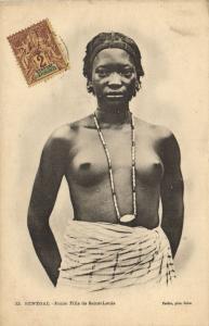 CPA Senegal Ethnic Nude Fortier - 32. Jeune Fille de Saint-Louis (71169)
