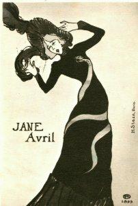 Vtg Carte Postale 1961 Musée Washington Dc Henri De Toulous Jane