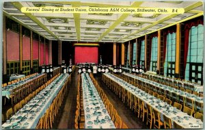Oklahoma State University Postcard Formal Dining at Student Union, A&M College