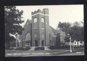RPPC SHENANDOAH IOWA FIRST BAPTIST CHURCH VINTAGE REAL PHOTO POSTCARD