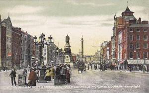 O'Connells Street & Bridge, showing O'Connells Monument, Dublin, Ireland,  00...