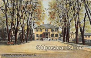 Governor Mansion Governor's Mansion Richmond, VA, USA 1908