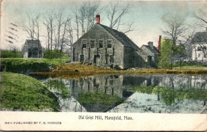 Massachusetts Mansfield The Old Grist Mill 1912