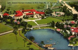 Florida St Petersburg Admiral Farragut Academy On Boca Ceiga Key Curteich