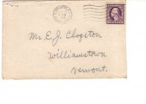 Cover, Camp Greene North Carolina to Williamstown, Vermont, Used 1918