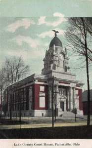 Lake County Court House, Painesville, Ohio, Early Postcard, Used in 1909