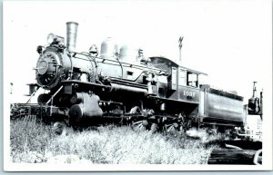 Railroad RPPC Real Photo Postcard NEW YORK CENTRAL Locomotive #1037 - c1950s