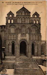 CPA Le Puy - La Facade de la Cathedrale (XII et XV siecles)-precedee...(589153)