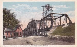 ROCK ISLAND Arsenal, Illinois; The Guard House and Government Bridge, 1910-20s