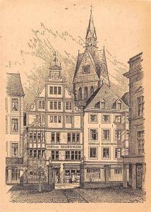 Hannover Blick vom Schlosshof auf Hahn'sche Buchhandlung und Marktkirche
