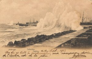 Sri Lanka Breakwater Colombo Ceylon 1903 03.77