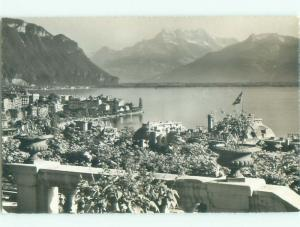 old rppc NICE VIEW Montreux - Lake Geneva Switzerland i3523