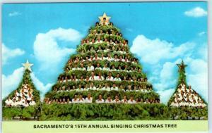 SACRAMENTO, California CA  Bethel Temple SINGING CHRISTMAS TREE 1971  Postcard