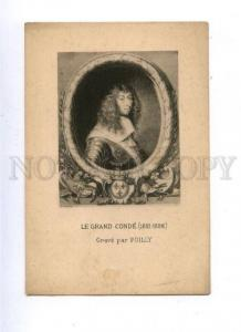 161594 Le Grand CONDE French general by POILLY Vintage PC