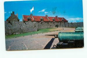Old Vintage Postcards Fort Ticonderoga Canon Walls NY # 2146A