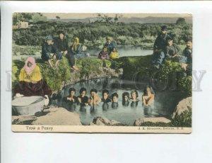 3173935 NEW ZEALAND ROTORUA native children Vintage postcard