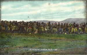 new zealand, Traditional Maori Dance Haka (1910s) Postcard