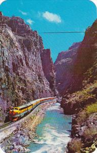 Royal Gorge Scenic Railway In The Royal Gorge Canyon