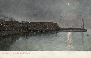 BRISTOL , Rhode Island , 1910 ; Herreshoff's Shop at night