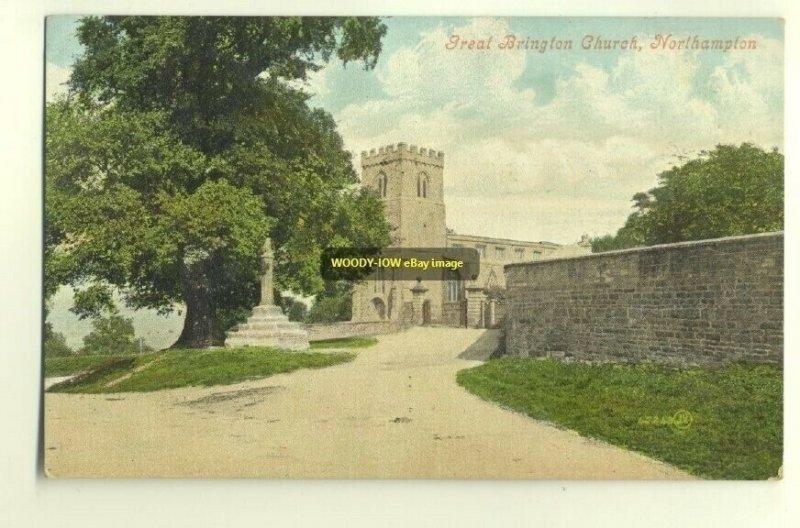 cu0720 - Great Brington Church , Northampton - postcard