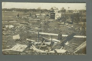 Kearney NEBRASKA 1908 TORNADO RUINS Disaster S.D. BUTCHER & SON People Searching