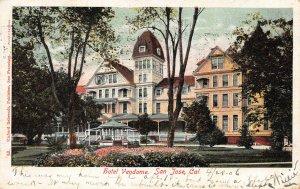 Hotel Vendome, San Jose, California, Early Postcard, Used in 1906