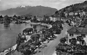Switzerland Locarno Lago Maggiore Quai Promenade Postcard
