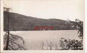 1954 CANADA Vue du Lac Manitou Sud Quebec RPPC