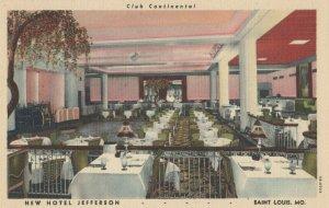 ST. LOUIS , Missouri, 1930-40s ; New Hotel Jefferson , Club Continental