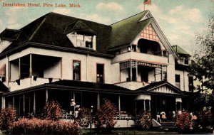 Michigan Pine Lake Interlaken Hotel 1910
