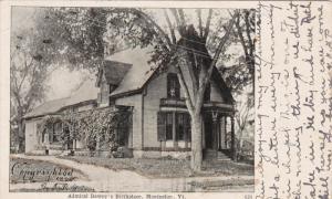 Admiral Dewey's Birthplace, MONTPELIER, Vermont, PU-1906