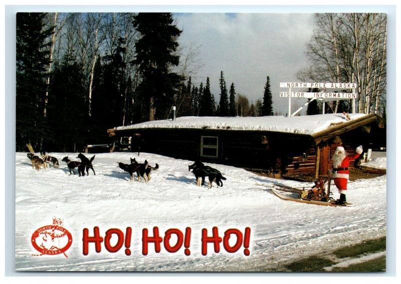 Postcard North Pole Community & Visitor Center Ho Ho Ho Santa AK ACE1994
