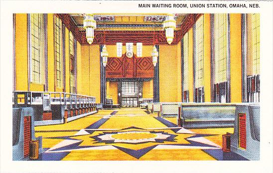American Express Travelers Cheques Main Waiting Room Union Station Omaha Nebr...
