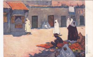 A Courtyard , Morocco, Africa, 1900-1910s : TUCK 7427