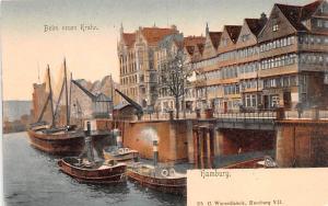 Sail Boat Postcard Old Vintage Antique Post Card Hamburg, Beim neuen Krahn Un...