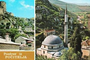Pozdrav Iz Pocitelja Croatia Croatian Rare Photo Postcard