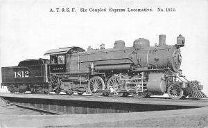 A.T. & S.F. Six Coupled Express Locomotive No. 1812 train, railroad