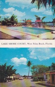 Florida West Palm Beach Lake Shore Court With Pool 1958