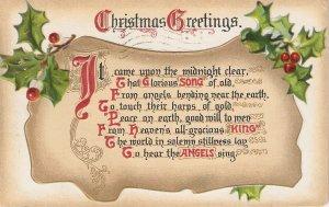 Christmas Greetings Message. Holly Tuck Christmas Hymns Ser. PC # 514