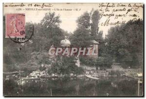 Old Postcard Neuilly Sur Seine The daughter of Love Cabaret