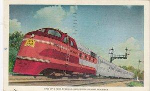 Streamlined ROCK ISLAND Express Train , 1940