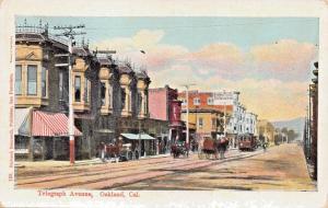 OAKLAND CALIFORNIA~TELEGRAPH AVENUE-RICHARD BEHRENDT #130 PUBLISHED POSTCARD