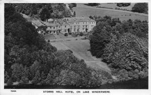 Lake Windermere England 1949 RPPC Real Photo Postcard Storrs Hall Hotel