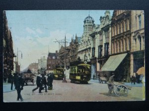 Yorkshire KINGSTON UPON HULL King Edward Street ANIMATED SCENE c1906 Postcard
