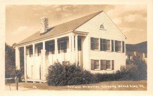 F86/ Bread Loaf Vermont RPPC Postcard c1940s Davison Memorial Library