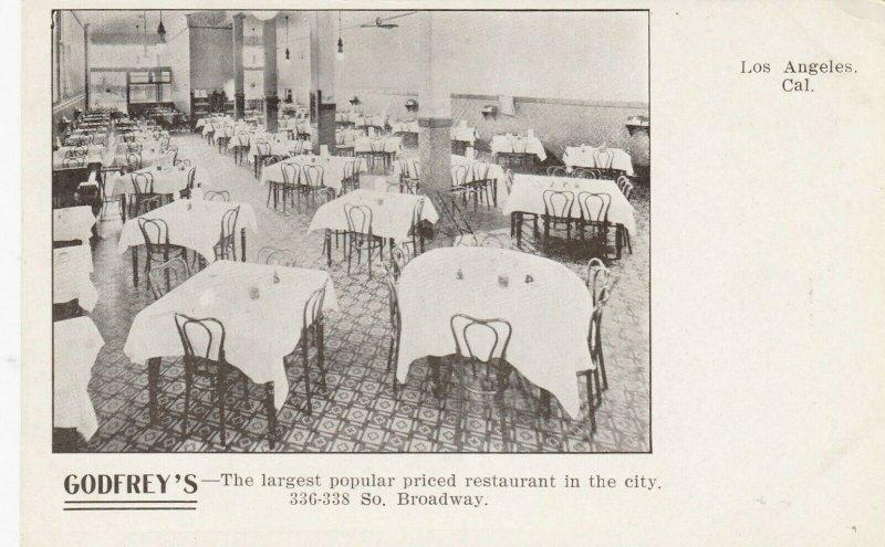 LOS ANGELES, Ca, 1901-07 ; Godfrey's Restaurant , Interior