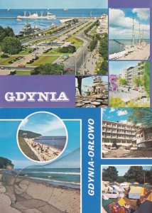 Gdynia Poland Giant Seal Fishing Net Boats Aerial 2x Postcard s